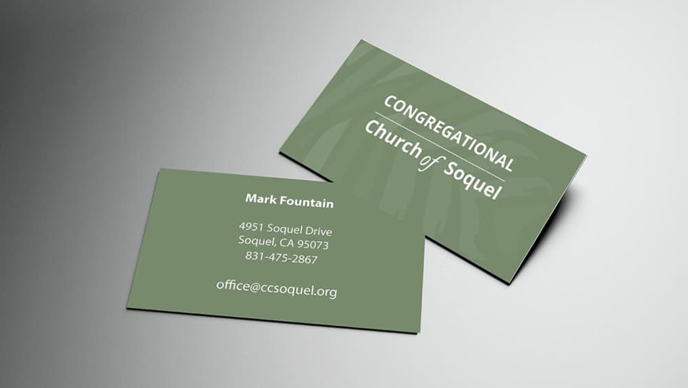 Congregational Church of Soquel business cards