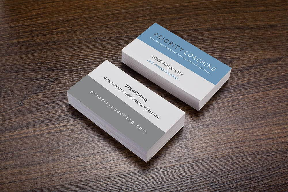 Priority Coaching business cards